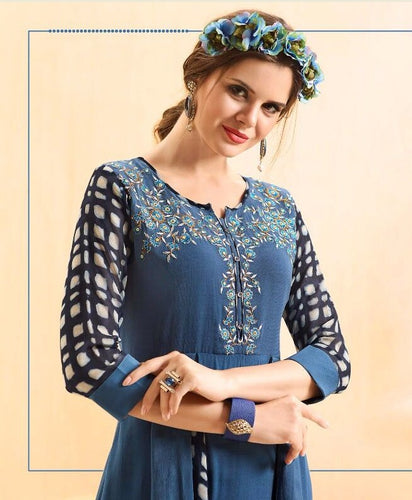 KT0207(M) 02 - Stylish Kurti Rangoli Vol 2