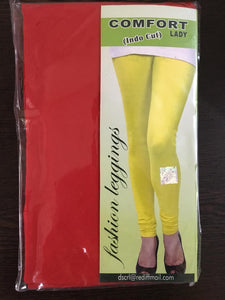 LG203(Free Size) - Comfort Lady Churidar Leggings(Indo Cut).