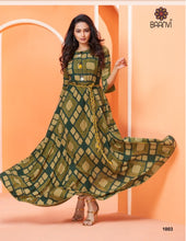 Load image into Gallery viewer, ZKT0401(M) - Saanvi Long Kurties Big Flares 03