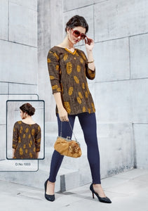 TP0404(M)02 - Stylish Rayon Print Top