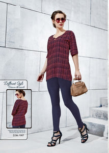 TP0404(M)05 - Stylish Rayon Print Top