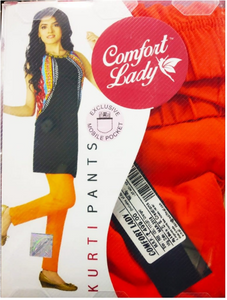 Comfort Lady Kurti Pants (Free Size Pack of 5) - Rs 350/pc (Save 875 Rs overall)