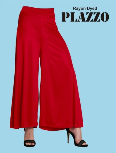 PL120 - Plain Rayon Plazzo (All Colors)