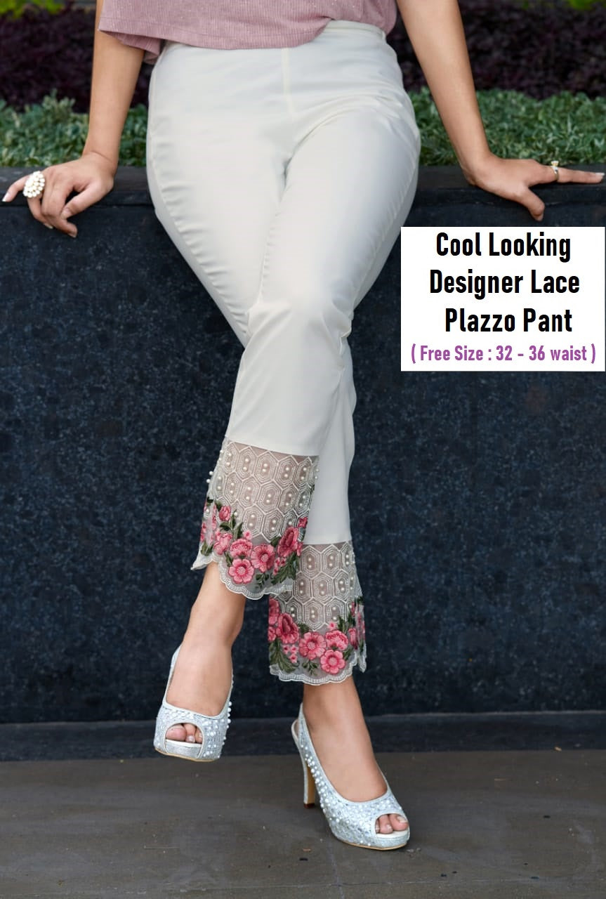 PL112 - Heavy Lace Embroidery Plazzo Pant