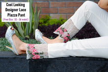Load image into Gallery viewer, PL112 - Heavy Lace Embroidery Plazzo Pant