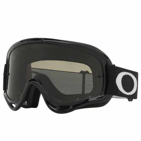 OA-OO7029-54 - Oakley O Frame MX goggles in jet black frame with dark gray lens