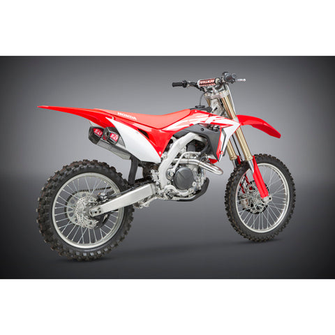 Yoshimura Signature RS-9T stainless/stainless/carbon fibre slip-on or full system for 2017-2018/2019 Honda CRF450R/RX - YM-225832R520  (slip-on for 2017-2018 only) YM-225840R520 (full system for 2017-2019)