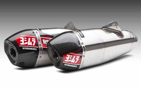Yoshimura Signature Series Dual RS-9T Stainless/Stainless/Carbon Fibre slip-on for 2018 Honda CRF250R