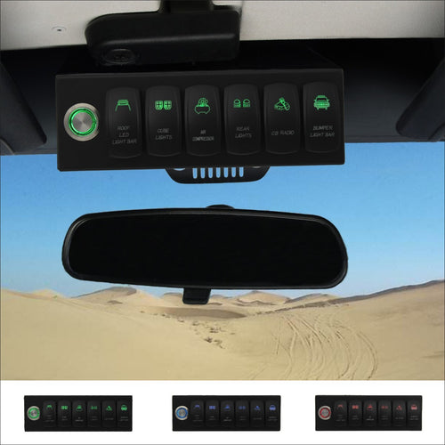 6-switch Pro in Green for Jeep JK & JKU 2007-2018