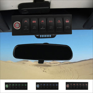 6-switch Pro in Red for Jeep JK & JKU 2007-2018
