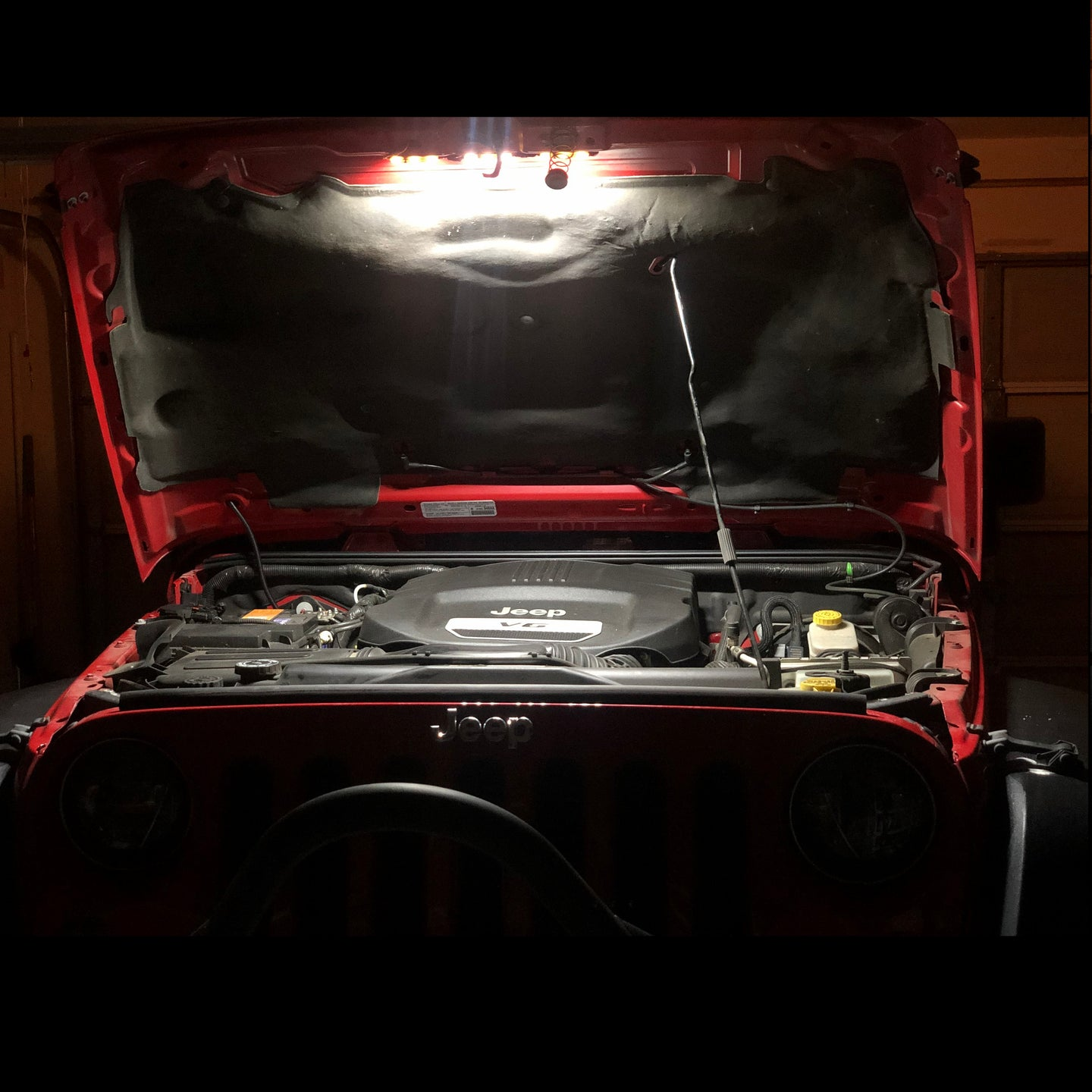 JKU JEEP LED HOOD HALO ENGINE BAY KIT