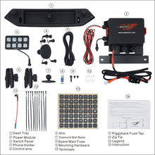 Load image into Gallery viewer, JL100 8-switch Programmable Switch Panel Power Control System for Jeep Wrangler JL JLU and Gladiator