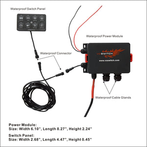 JL100 8-switch Programmable Switch Panel Power Control System for Jeep Wrangler JL JLU and Gladiator