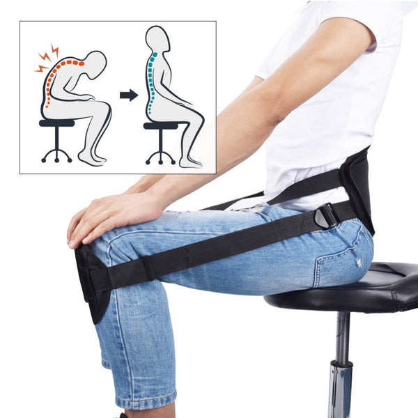 Portable Back Support Belt Pad for Better Sitting Posture Perfect Back Waist Corrector Brace Protector for Lower Back