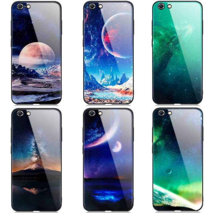 Space Glass IPhone Mobile Cell Phone Case