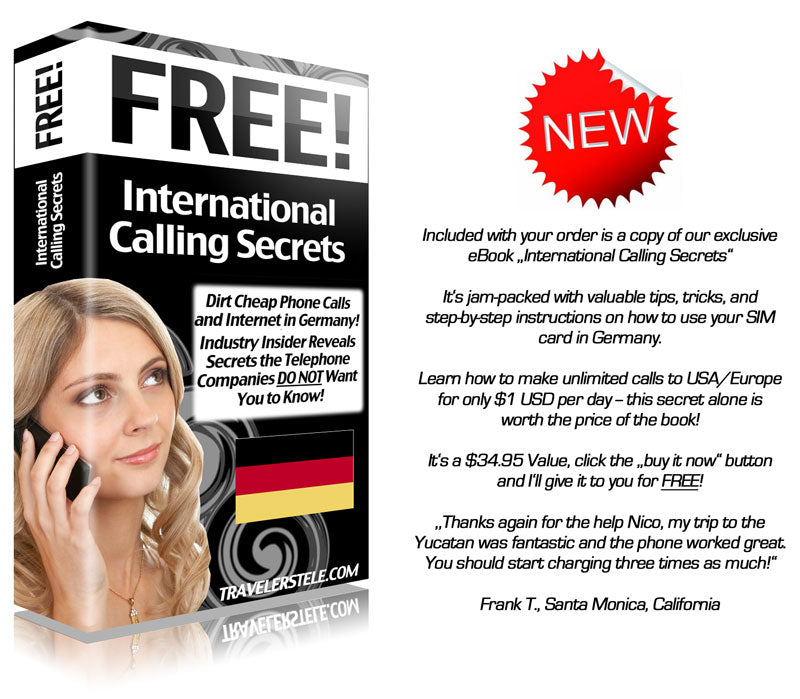 The eBook includes easy-to-follow instructions on how to use your Germany SIM card, phone and modem.