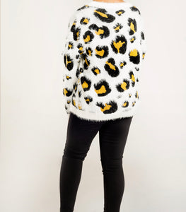 Long Sleeve Leopard Sweater
