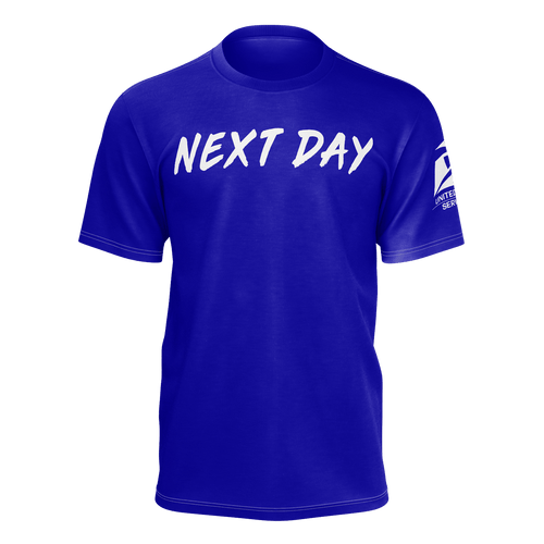 UPS 'Next Day' Blue T-Shirt - SCARFO DA PLUG
