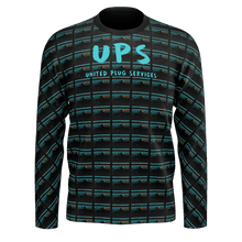 Load image into Gallery viewer, UPS 'Priority' All-Over Black Longsleeve T-Shirt - SCARFO DA PLUG