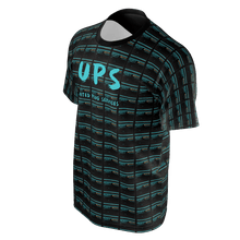 Load image into Gallery viewer, UPS 'Priority' All-Over Short Sleeve Black T-Shirt - SCARFO DA PLUG