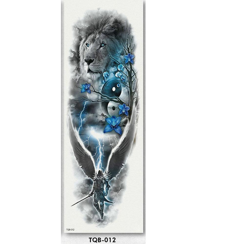 Full Arm sleeve Tattoo Waterproof temporary tattoo Sticker