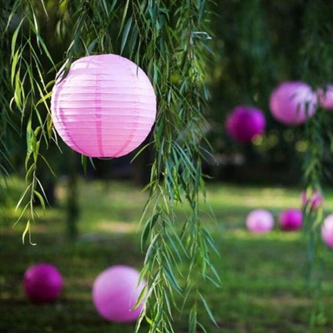 paper lanterns with nature