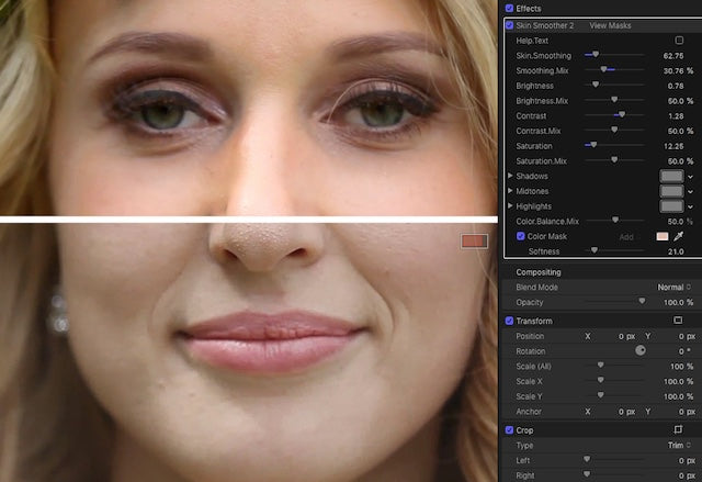Skin Smoother 2 - FCPeffects: Final Cut Pro Plugins