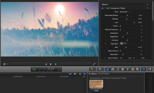 Anamorphic Lens Flares 1.1 for FCP X, Premiere Pro & Avid (Win/MacOSX) 161014