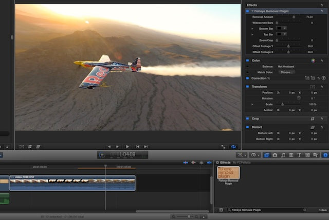 Final Cut X Plugin - Remove Fisheye