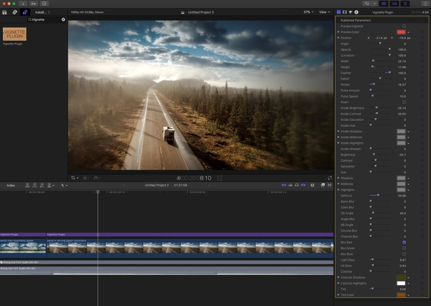 Vignette Plugin - FCPeffects: Final Cut Pro Plugins
