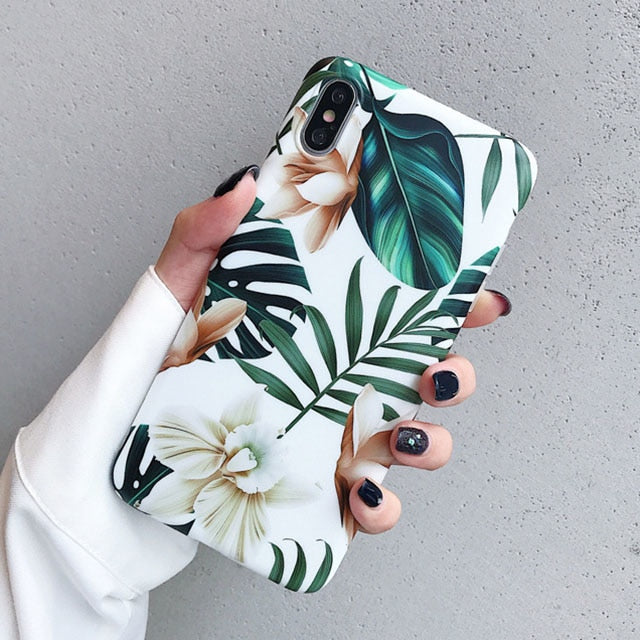 Flowers Leaf iPhone Case