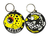 Yellow Box Fish & Clown Trigger Fish Keychain