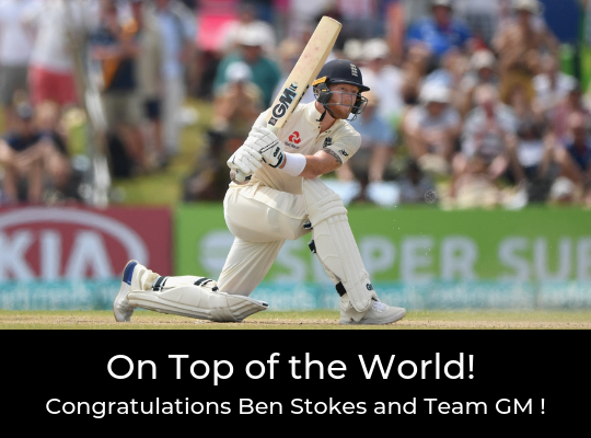 Ben Stokes - On top of the World !