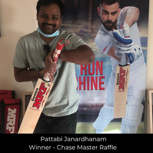 MRF Chase Master Cricket Bat Raffle Winner - May 2020
