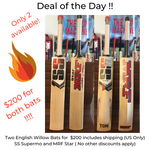Deal of the Day - Combo 1 ( MRF Star and SS Supermo Bats)