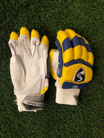SG Batting Gloves Test-  CSK IPL Edition (Custom)