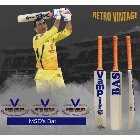 BAS VAMPIRE RETRO VINTAGE PLAYER EDITION English Willow Bat