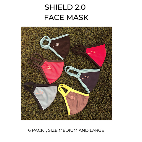 Shield 2 Face Mask ( 2 Ply)  - 6 pack