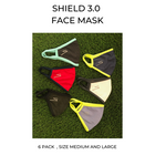 Shield 3 Face Mask ( 2 Ply)  - 6 pack