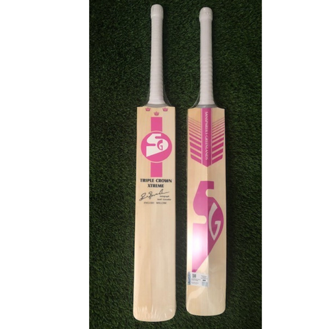 SG Triple Crown Xtreme ( Special Edition ) Pink -  English Willow Cricket Bat