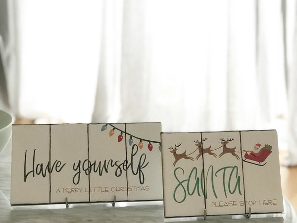 Have Yourself a Merry Little Christmas - 4 Tile Set