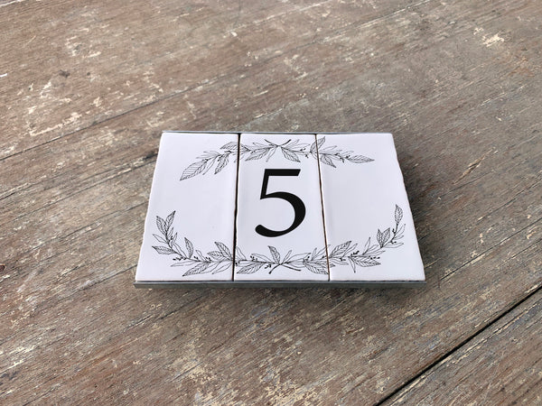 Hand Drawn Floral  - One Number Set