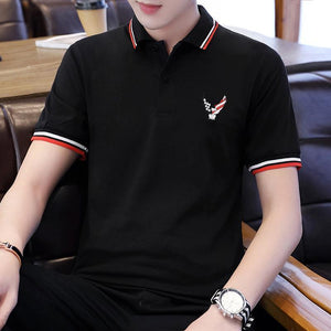 Men's Large-sized Casual Polo Shirts