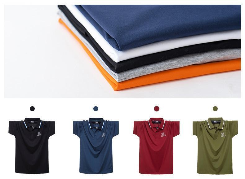 Men's Loose Half-sleeve Polo Shirt