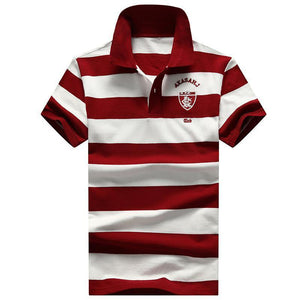 Men's stripe Short-Sleeve Polo Shirts