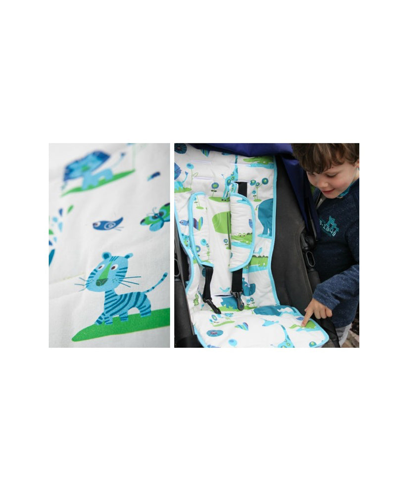"Kinderwagenauflage ""Juicy Jungle"" - 34 x 84 cm"