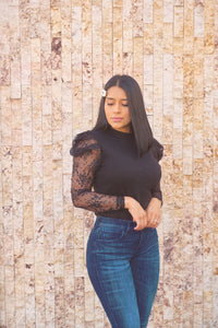 Madrid Lace Sleeve Top-
