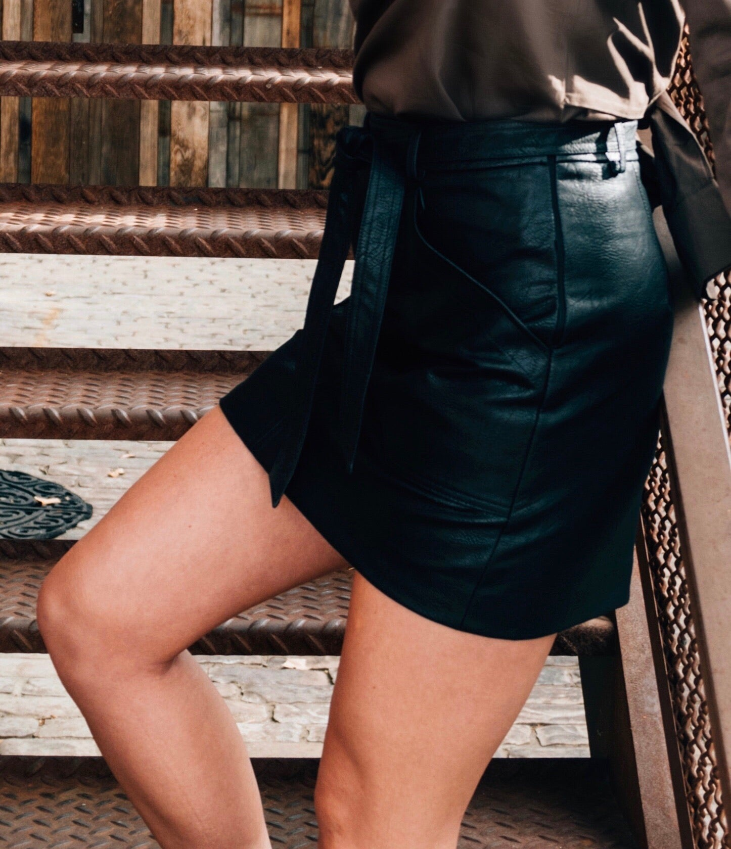 Josie Leather Skirt