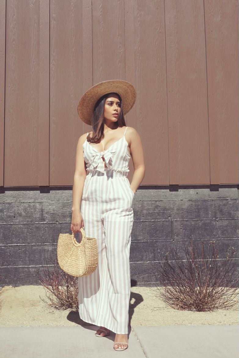Capri Striped Jumpsuit