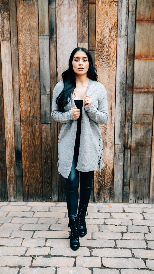 Sunday Grey Cardigan - Uncommon Lux